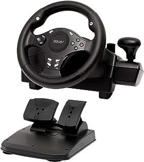 فرمان مسابقه بازی 270 درجه فرمان رانندگی برای بازی های اتومبیلرانی PC / XBOX ONE / XBOX 360 / PS4 / PS3 / Nintendo Switch / Android با ترمز شتاب دهنده پدال
