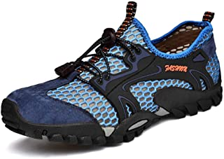 FLARUT Men's Sandals Barefoot Hiking Shoes Quick Dry Breathable Mesh Lightweight Outdoor Training Water Walking Shoes