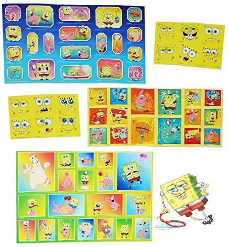 alles-meine.de GmbH Set 67 STK. Sticker / Aufkleber - Spongebob Schwammkopf - selbstklebend Stickerbox - Patrick Star Thaddäus Fisch Mädchen / Jungen Stickerset Kinder z.B. für S..