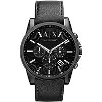 Armani Exchange AX2098 Black Leather Men's Watch