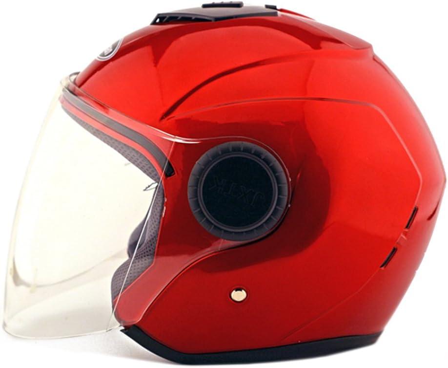 Moto Moto Scooter Moto Cyclomoteur Vélo électrique automobile Tête travail protection sécurité bedeckung Helmet Chapeau Cagoule demi-sphère Bague d'hiver 215Rouge