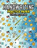Handwriting Practice Paper With Lines For Kids: Dashed Handwriting Practice Paper With Dotted Lined Sheets for Kids, Kindergarteners, Preschoolers And toddlers
