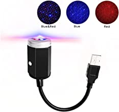N / A USB Car Roof Star Projector Night Light LED Interior Lamp, 3 Colors - 7 Lighting Effects, Adjustable Romantic Decora...