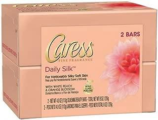 Caress Daily Silk Beauty Bars, 4.25 oz bars, 2 ea (Pack of 2)