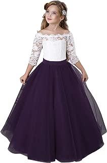 plum toddler flower girl dresses