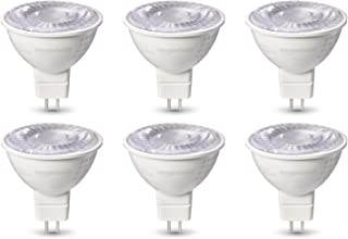 AmazonBasics FG-03436 AB MR1650WE830SDIMFR6PKBX 50W Equivalent, Warm White, Dimmable, 10,000 Hour Lifetime, MR16 (GU 5.3 Base) LED Light Bulb | 6-Pack