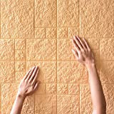 2PCS Wallpaper Autoadhesivo De Pared Tridimensional 3d Pegatina Espuma Aislante Sonido Aislamiento Acústico Anti-colisión...