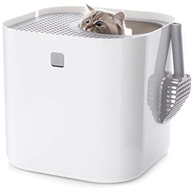 Modkat Litter Box, Looks Great, Reduces Litter Tracking, Includes Scoop and Reusable Liner