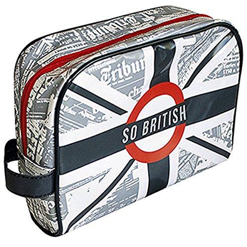Trousse de Voyage - Trousse de Toilette - PVC Brillant - So British