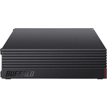 【Amazon.co.jp 限定】BUFFALO 外付けハードディスク 8TB テレビ録画/PC/PS4/4K対応 静音&コンパクト 日本製 故障予測 みまもり合図 HD-AD8U3