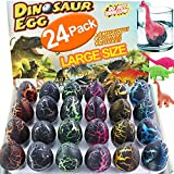 24Pcs Dinosaur Eggs Dino Egg Toys Grow in Water Hatching Egg Crack Science Kits Novelty Toy Birthday Dino Egg with Assorted Color for Toddler Kids 3-10 Boys Girls Pool Water Toy