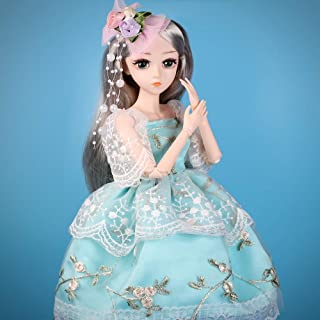 UCanaan BJD Dolls, 1/4 SD Doll 18 Inch 18 Ball Jointed Doll DIY Toys with Full Set Clothes Shoes Wig Makeup, Best Gift for Girls