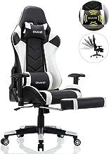 OHAHO Gaming Chair Racing Style Office Chair Adjustable Massage Lumbar Cushion Swivel..