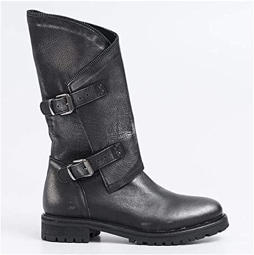 KEB - Bikers bottes in noir Leather - 120PERL CDF