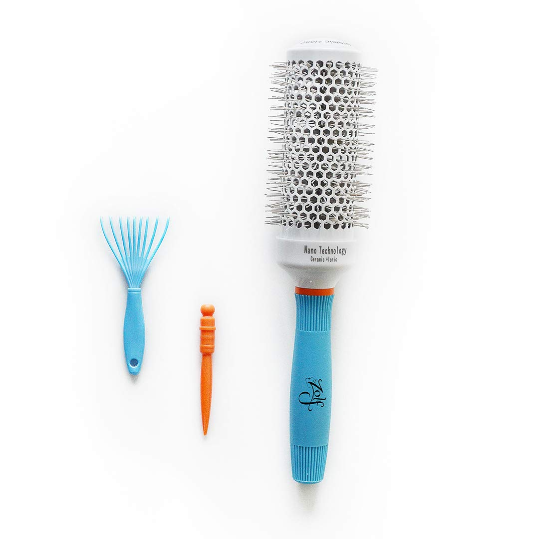 Zolf Professional Oakland Mall Max 89% OFF quality Round Hair Brush Ceramic with made + I