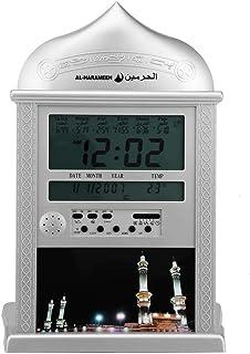 LED Prayer Clock, Wall Azan Clock Muslim Azan Clock with Instruction Manual and Pen, Muslim Azan Table Prayer Clock Muslim...