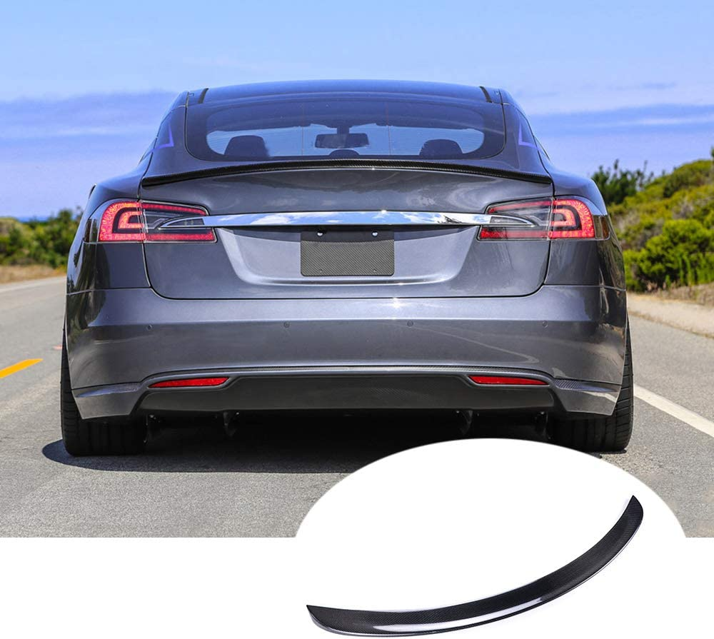 100% Real 67% OFF of fixed price Carbon Fiber Popular popular Rear Trunk For Spoiler Fits lip Wing Tesl