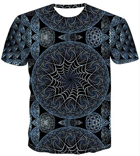 WTZFHF T-shirt, mode mannen HD 3D korte mouwen creatieve digitale print paar dragen los T-shirt met korte mouwen ademende zomer unisex 6XL