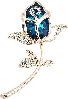 Defantia Pendente a Farfalla con Diamanti in Cristallo Retro a Forma di Spilla a Farfalla