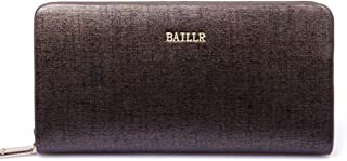 mens wallet wallets mens Leather Fashion Men's Medium Long Wallet Clutch Bag Single Pull Casual Bag Wrist Bag-Bronze