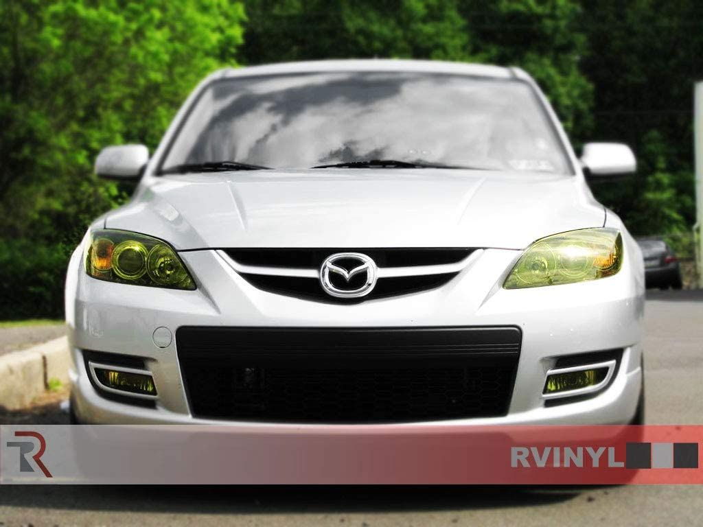 Application Kit Rvinyl Rtint Headlight Tint Covers for Mazda Mazda3 2006-2009