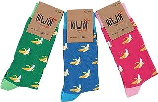 Pack de 3 calcetines unisex de algodón con divertidos estampados y diseños únicos.