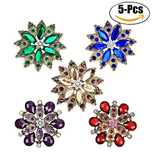 Fascigirl Ropa Broche Retro Broche De Cristal Brillante Broche De Diamantes De...