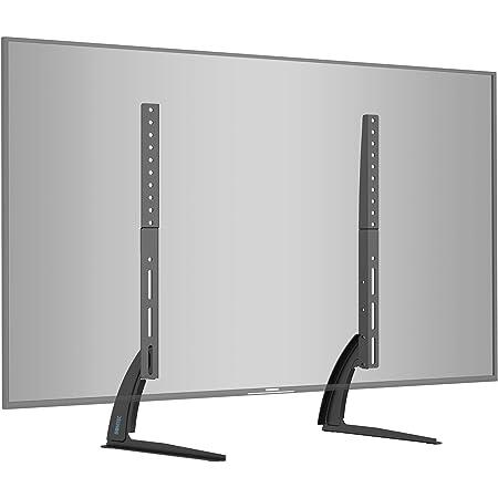 BONTEC Support TV Piédestal Pied TV Universel de 22-65 Pouces Support de TV sur Table Hauteur Réglable Capacité de Charge 50 KG Max. VESA 800x400 mm - Assemblage Simple