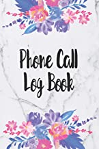 Phone Call Log Book: Telephone Message Tracker And Notebook