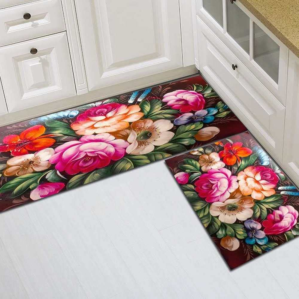 Runner Rugs Limited time for free Store shipping Hallway 2-Piece Waterproof Set Large Run Kitchen
