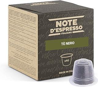 Note d'Espresso - Thé Noir - Capsules Exclusivement Compatible avec Machine NESPRESSO* - 40 x 2 g