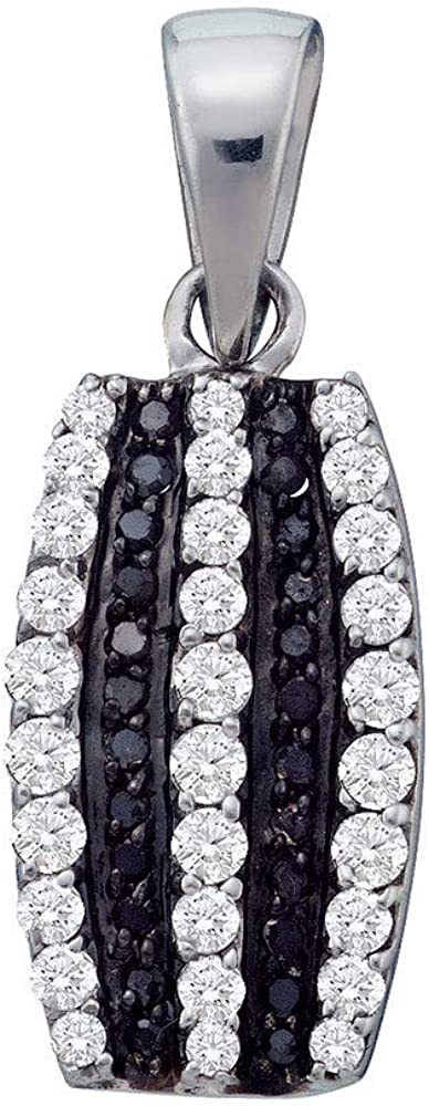 The Diamond Deal 10kt White Gold Color Inventory cleanup selling sale Womens Enhanc Black Round Directly managed store