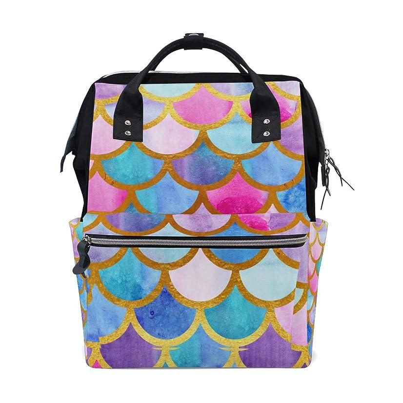 Colorful Mermaid Fish Scales School Backpack Large Capacity Mummy Bags Laptop Handbag Casual Travel Rucksack Satchel For Women Men Adult Teen Children