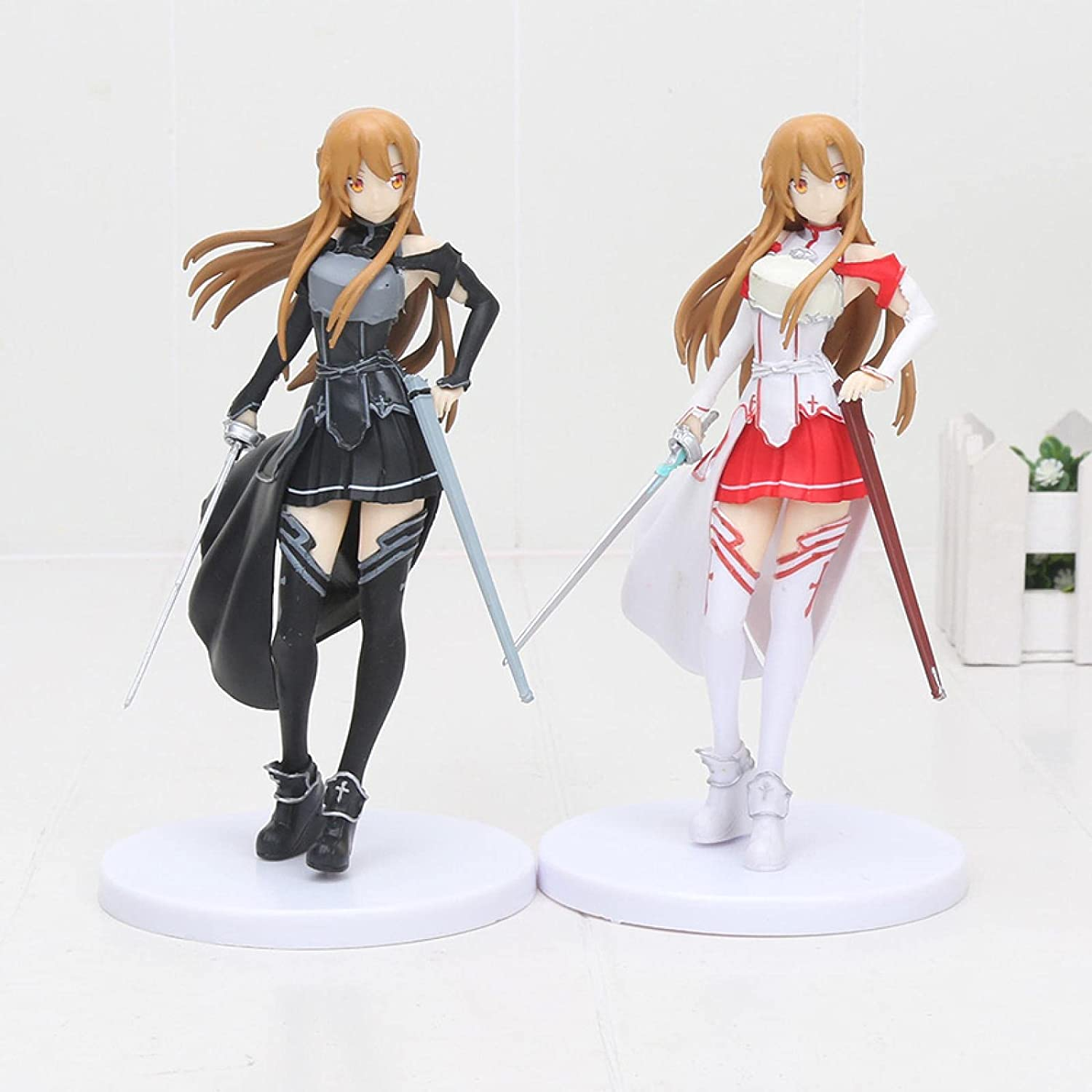 2Pcs Anime Figures Philadelphia Mall Sq Sword Cheap mail order sales Art Online Collection Action F Asuna