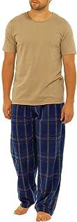 Mens Modern Casuals Plain Top Checked Bottoms Pyjamas Sleepwear Nightwear