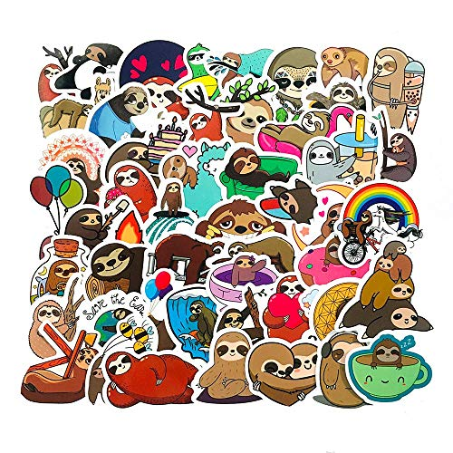 Aufkleber Faultier Sticker 50 Stück Sloth