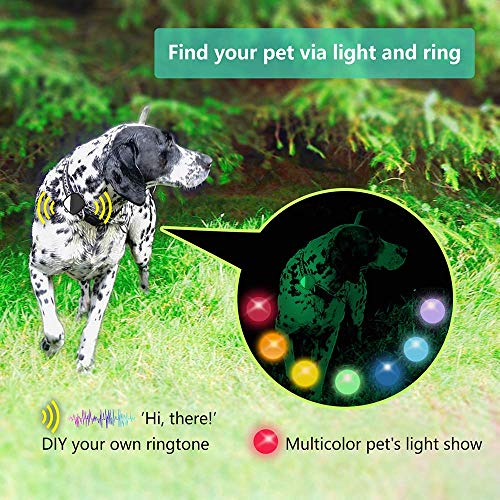 PETFON Pet GPS Tracker, Real-Time Tracking Device,No Monthly fee, APP Control for Dogs ONLY
