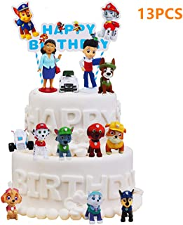 13 PCS Paw Dog Patrol Cake Topper, Children Mini Toys Cupcake Toppers for Birthday Party Supplies