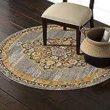 Marca de Amazon - Movian Arda, alfombra redonda, 160 x 160 cm (diseño geométrico)