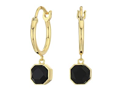 gorjana Power Gemstone Charm Huggies Earrings (Black Onyx) Earring