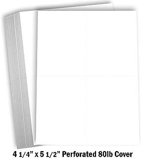 Hamilco White Cardstock Thick Paper 8 1/2 x 11