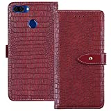 YLYT Flip TPU Silikon Hülle Etui Rot Leder Tasche Schutz Hülle Für OUKITEL U22 5.5 inch Handy Horizontale Standfunktion Magnetverschluss Strapazierfähiger Cover