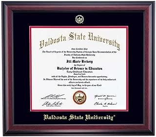 OCM Valdosta State Blazers Diploma Frame Black Red Matting Embossed Seal
