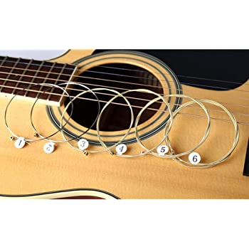 succeedw 1 Juegos De 6 Cuerdas De Guitarra Cuerda De Acero De ...