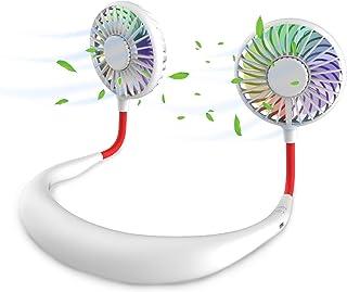 Ventilateur Portable, Mini Ventilateur USB, Ventilateur Portable Nuque Rechargeable, Ventilateur D'encolure, Refroidisseur...