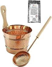 SudoreWell® Kit seau et louche en ciuvre pour sauna - accessoire pour sauna