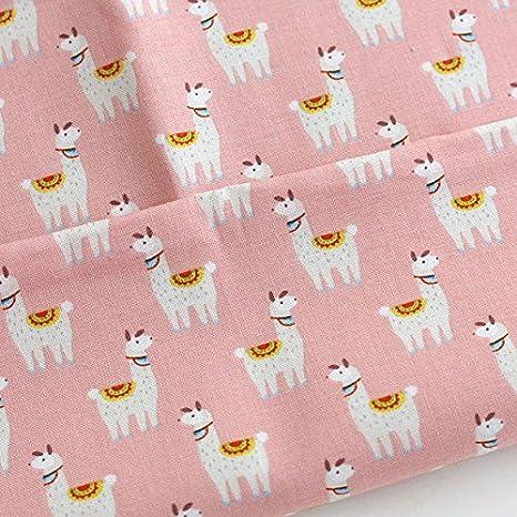 cotton fabric mask making fabric Llama fabric Turquoise Llamas and pizza Apparel fabric fabric by the yard girls fabric kids fabric