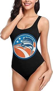 B78P9ANT-8 Sailfish Fish American Flag Women's Swimwear One Piece Swimsuits Monokini for Training