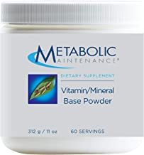 Metabolic Maintenance Vitamin Mineral Base Powder - Iron Free Daily Multivitamin for Men + Women with Active B Vitamins, C...