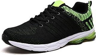 Zapatillas Running para Hombre Aire Libre y Deporte Transpirables Casual Zapatos Gimnasio Correr Sneakers Verde 39-45